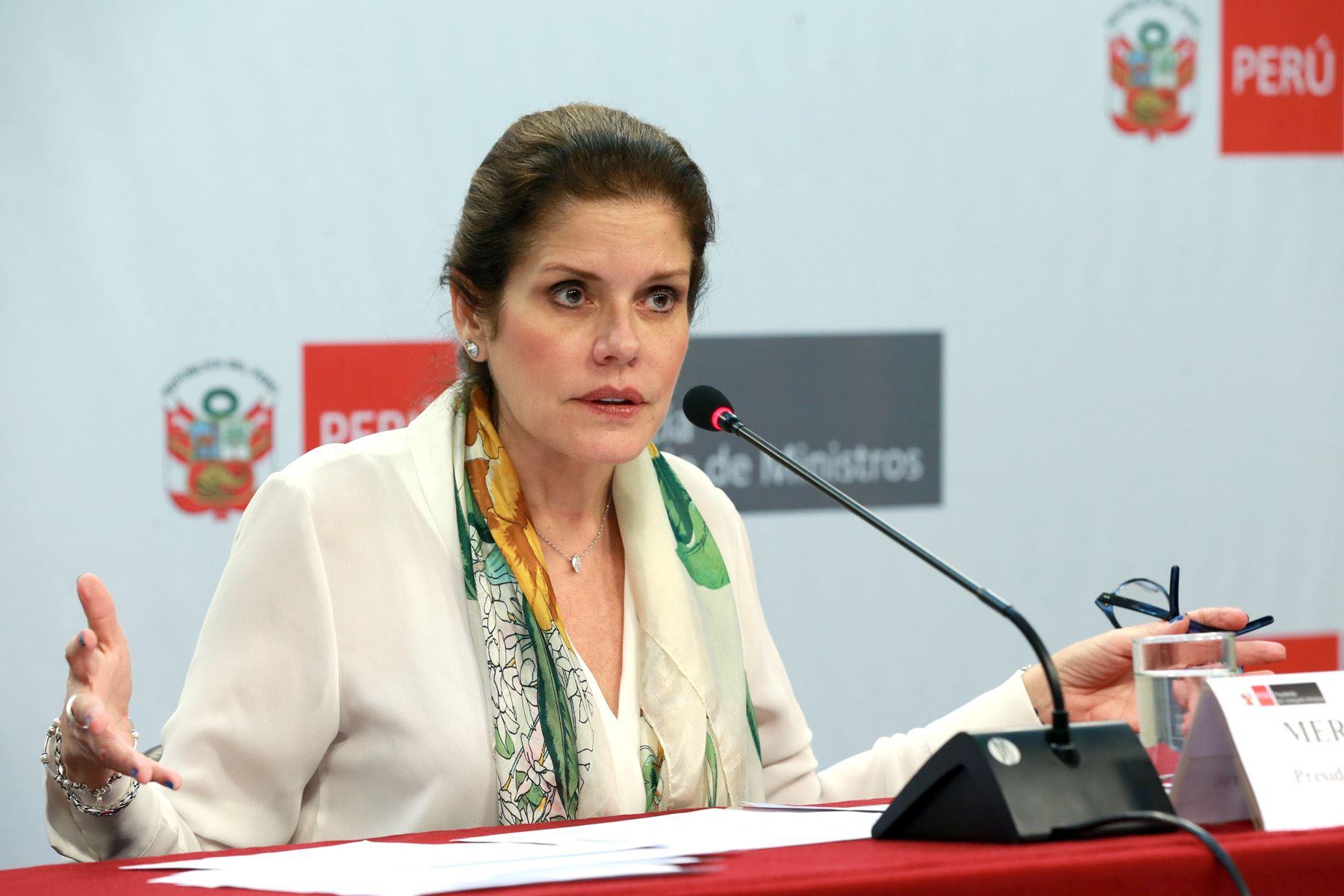 Mercedes Aráoz sugiere a Mariano González renunciar a su inmunidad