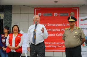 Presidente, Pedro Pablo Kuczynski, acompañado de la Ministra de la Mujer, Ana Maria Choquehuanca inaugura el Centro de Emergencia Mujer (CEM) de la Comisaría Laura Calle en Los Olivos. Foto: ANDINA/Prensa Presidencia