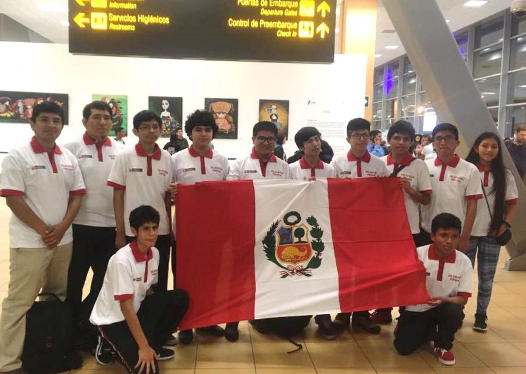 Escolares peruanos se coronan campeones internacionales de matemática. Foto: ANDINA/Difusión.
