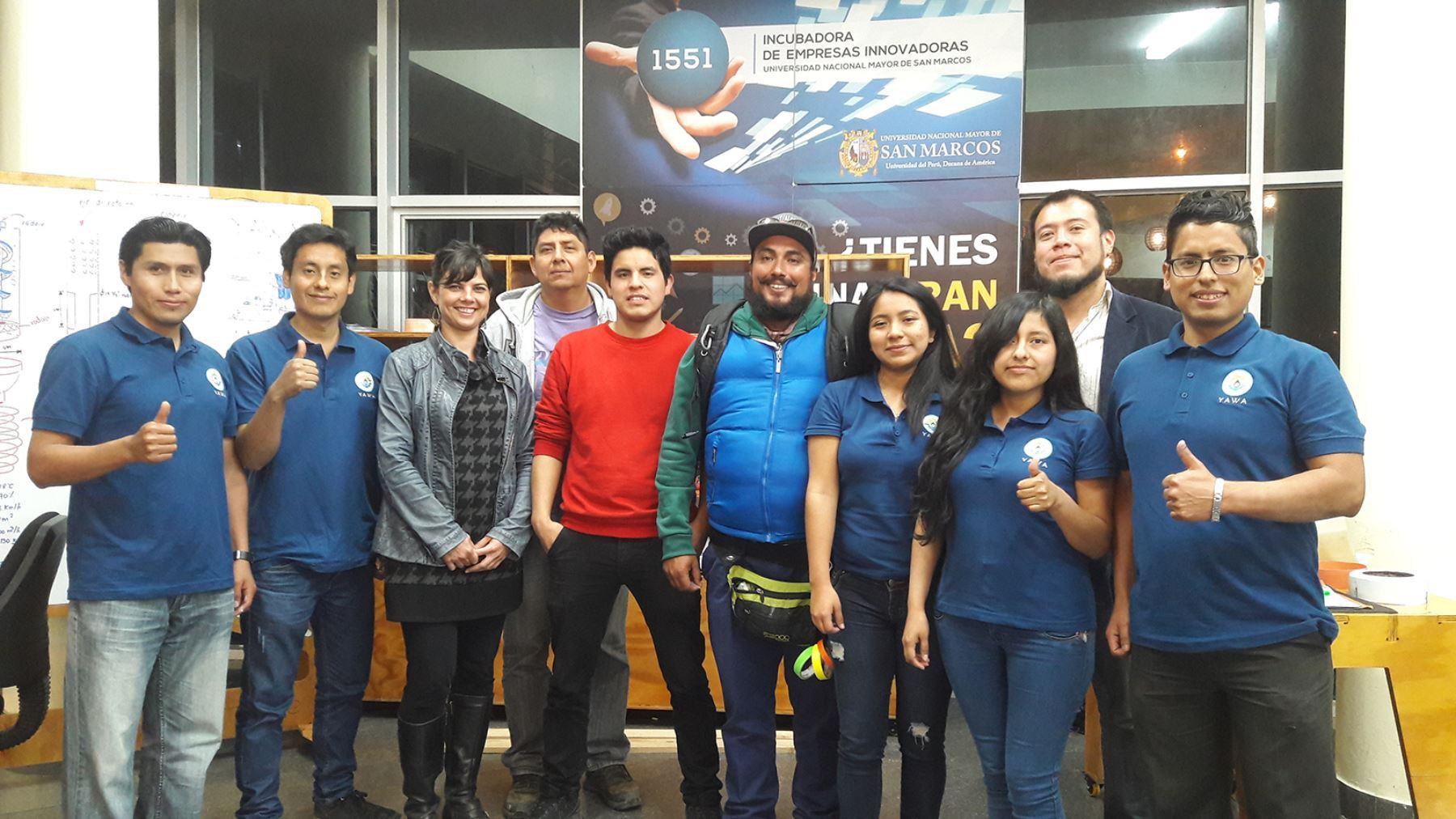 Todo el equipo sanmarquino celebró el triunfo. Foto: Universidad San Marcos