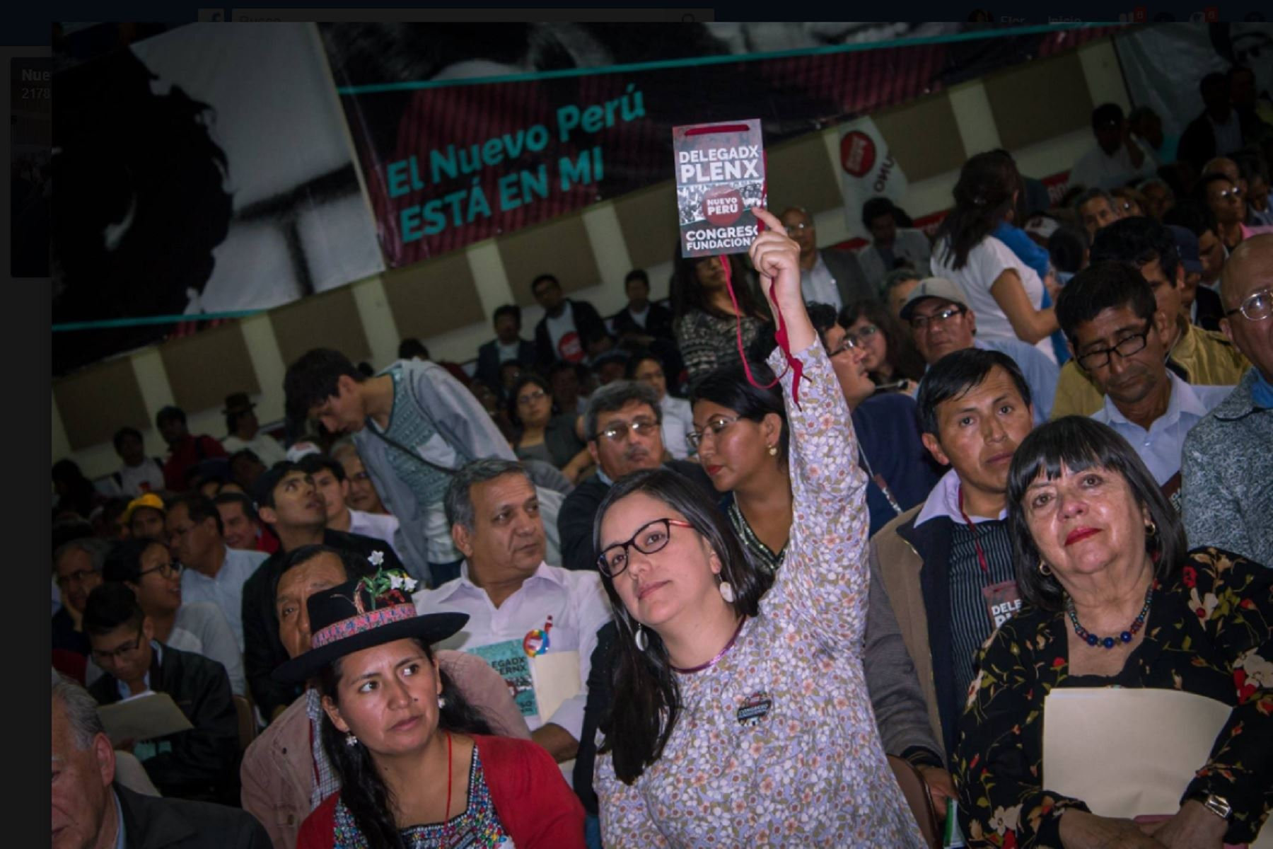 Nuevo Perú elige a Veronika Mendoza como su presidenta. Foto Nuevo Perú