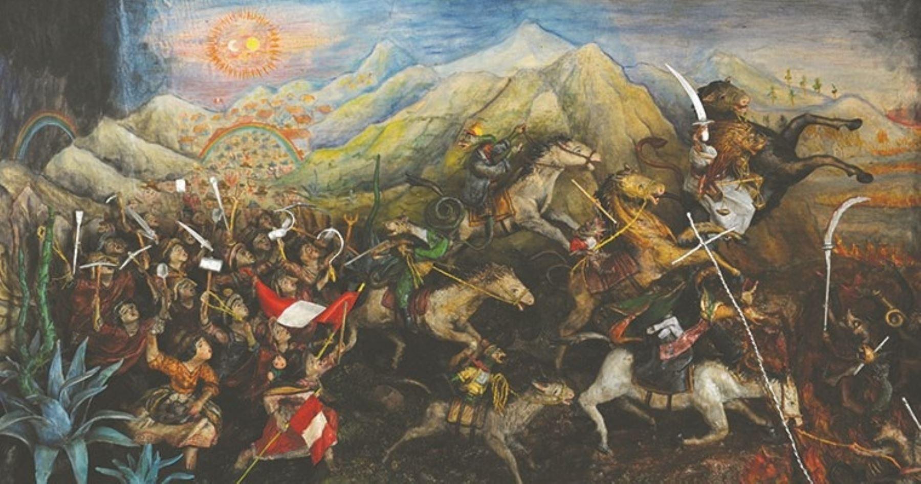 Detalle de retablo de Edilberto Jiménez