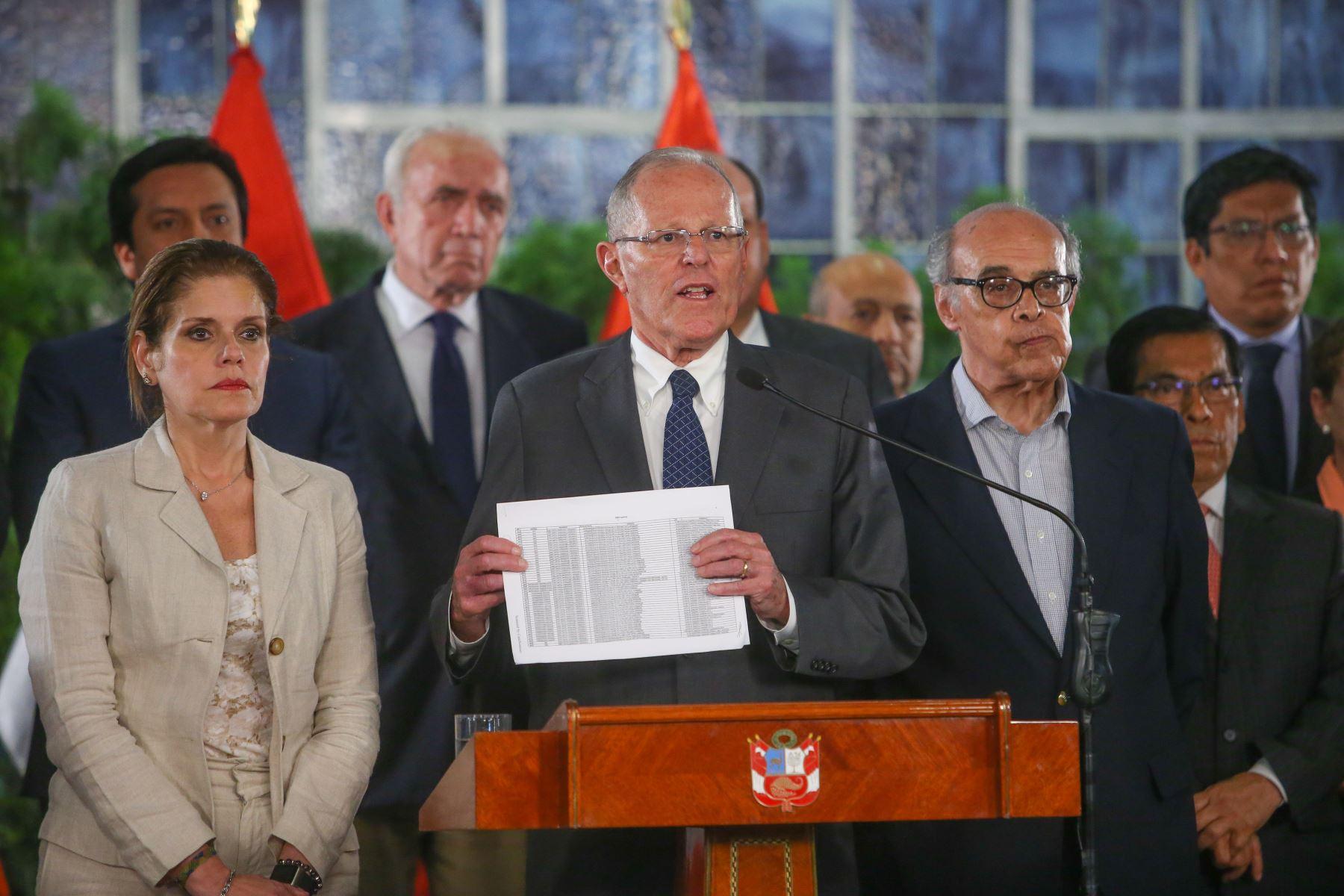 Mensaje a la Nación del presidente Pedro Pablo Kuczynski en Palacio de gobierno. Foto: ANDINA/Prensa Presidencia