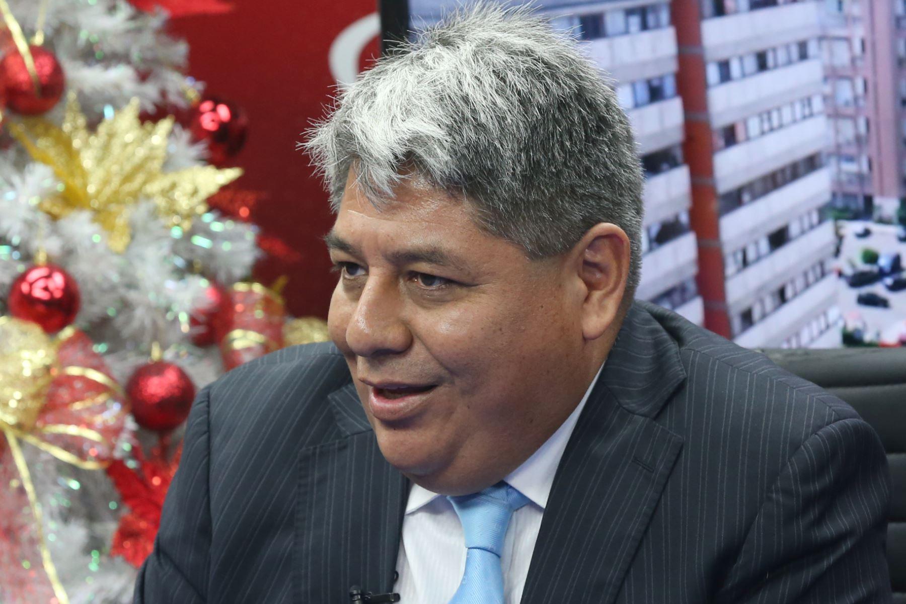 Economista Ricardo Salinas. ANDINA/Jhony Laurente