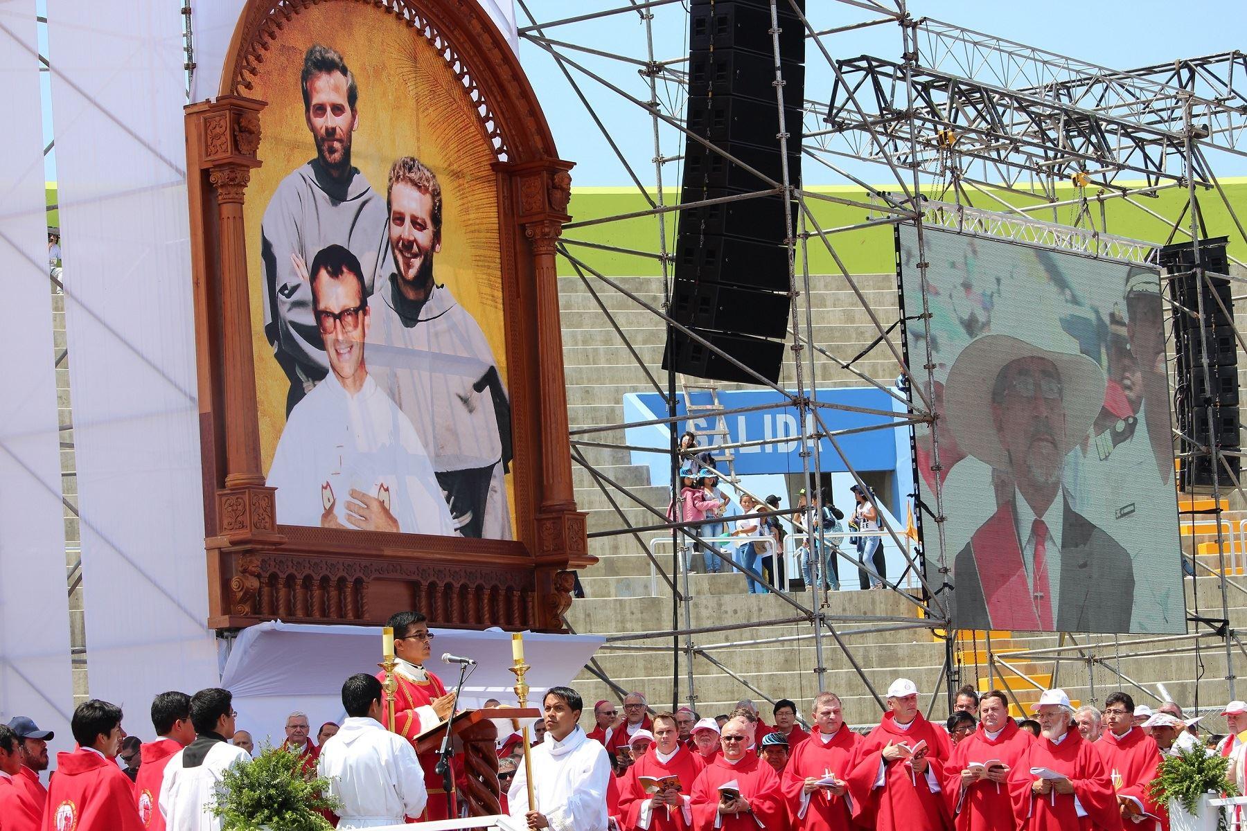 Reliquias de santos mártires de Pariacoto, en Áncash, estarán en el altar en la misa que celebrará el Papa Francisco en Trujillo. ANDINA