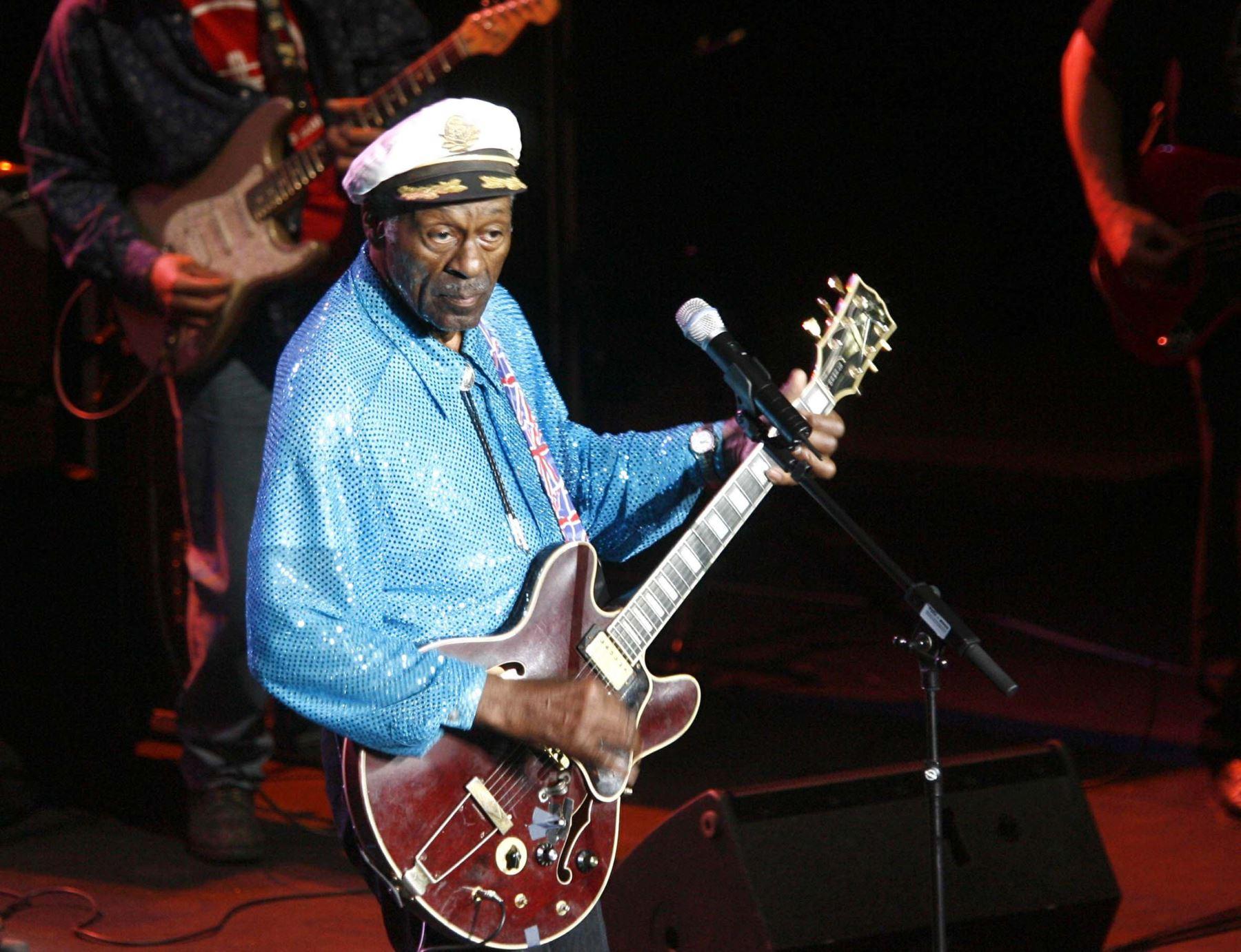 Chuck Berry en el auditorio de Castellón (España) Foto:EFE