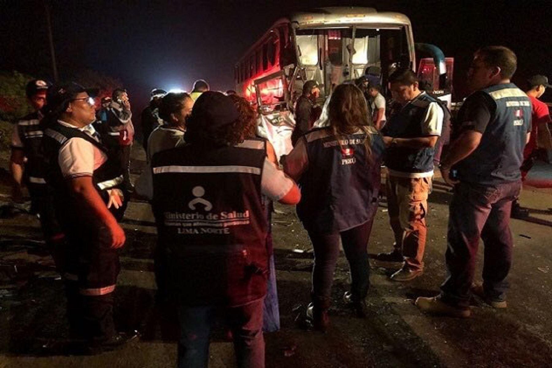 Nuevo accidente en Pasamayo. Foto: Minsa.