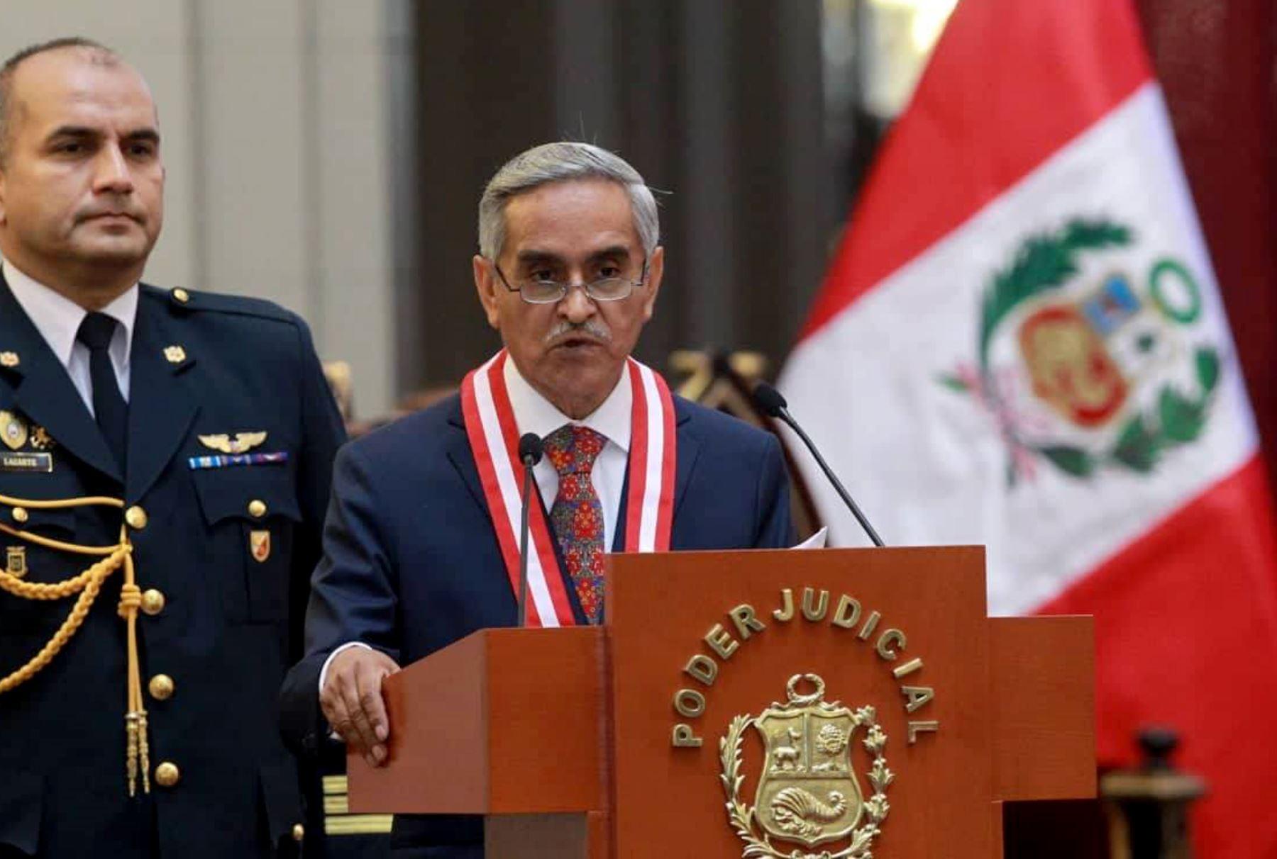 Presidente del Poder Judicial denuncia amenazas de muerte
