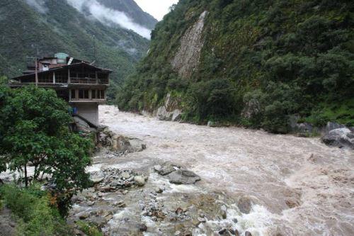 A las 06:00 horas, el río Vilcanota alcanzó en la estación Pisac 347.03 metros cúbicos por segundo. ANDINA/Difusión