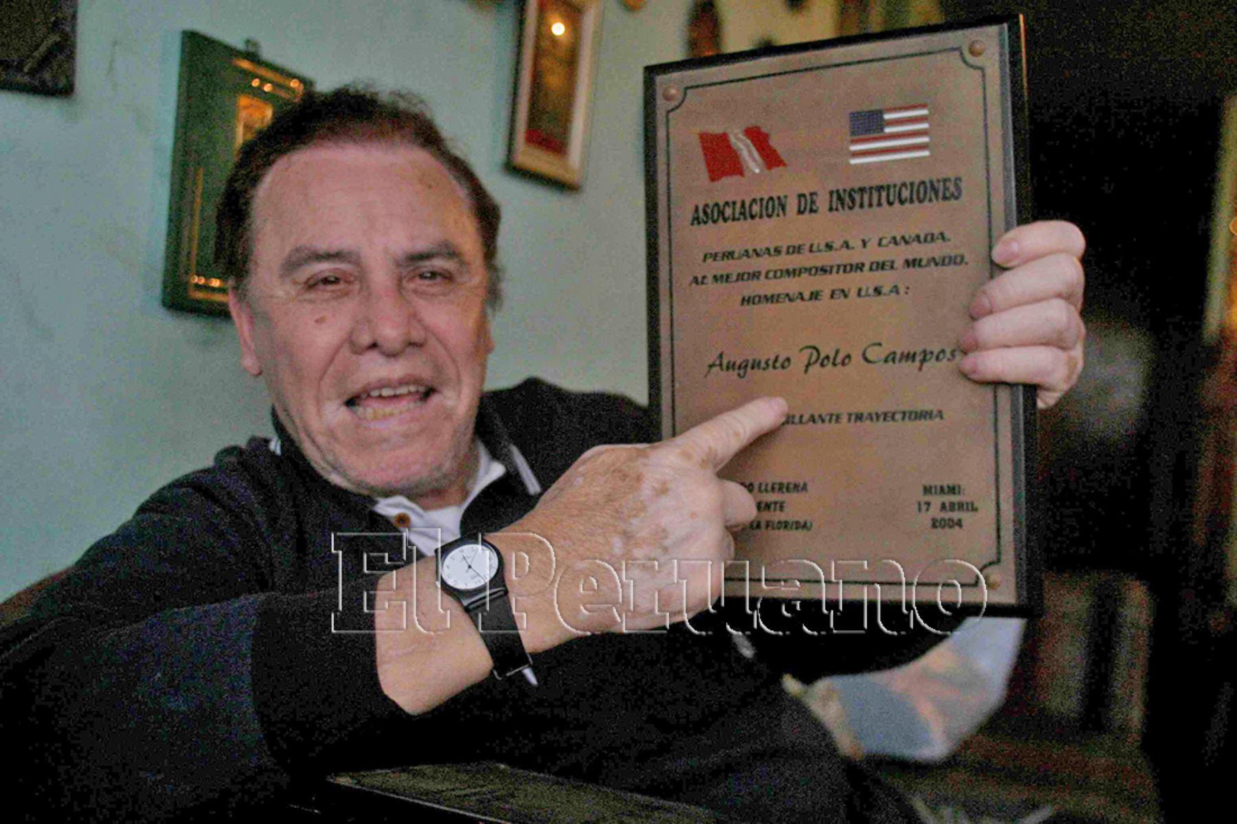Murió Augusto Polo Campos, una leyenda de la música criolla