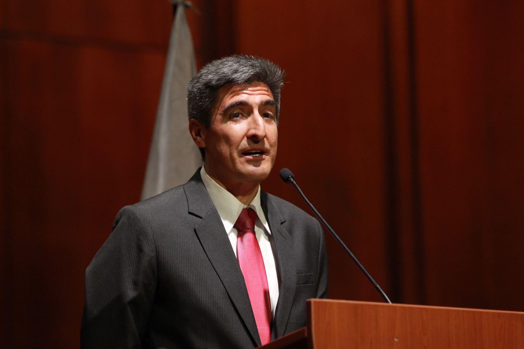 LIMA PERÚ - ENERO 11. Ceremonia de presentación oficial del ministro de Cultura Alejandro Neyra Sanchez. Foto: ANDINA/Dante Zegarra.