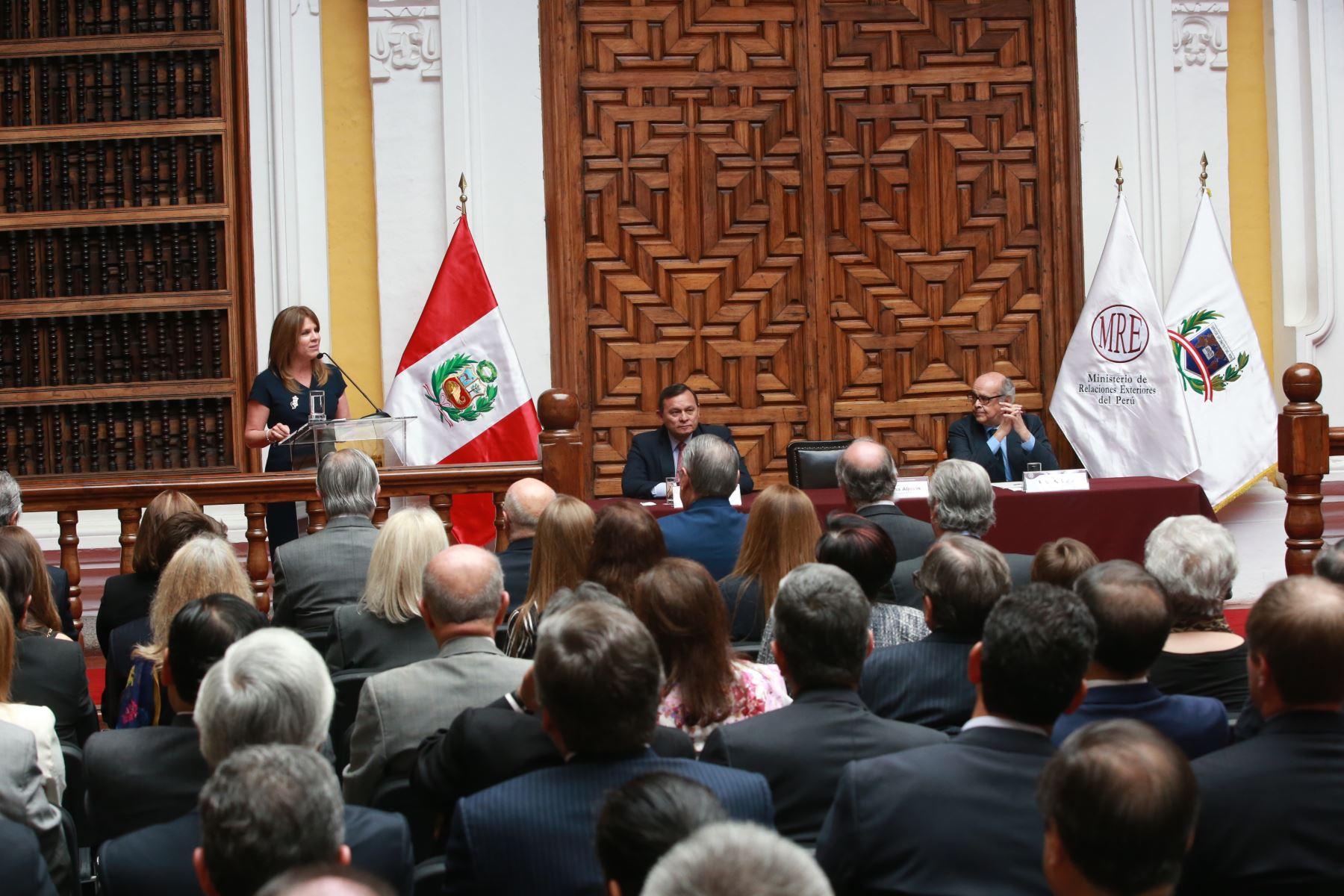 LIMA,PERÚ-ENERO 12. Presentación oficial de la canciller Cayetana Aljovín Gazzani, en Palacio de Torre Tagle. Foto: ANDINA/Jhony Laurente