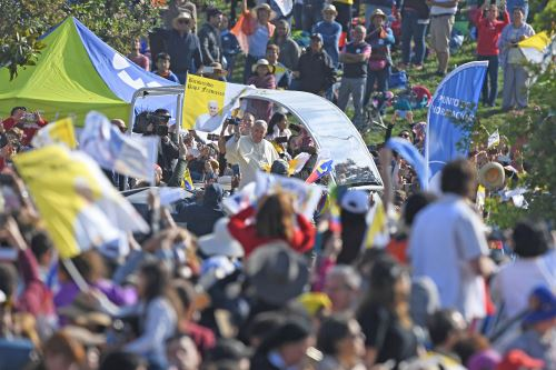 Pope Francis in Chile. Photo: AFP