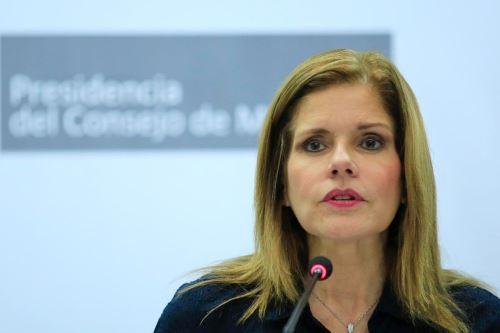 jefa del Consejo de Ministros, Mercedes Aráoz. Foto: PCM.