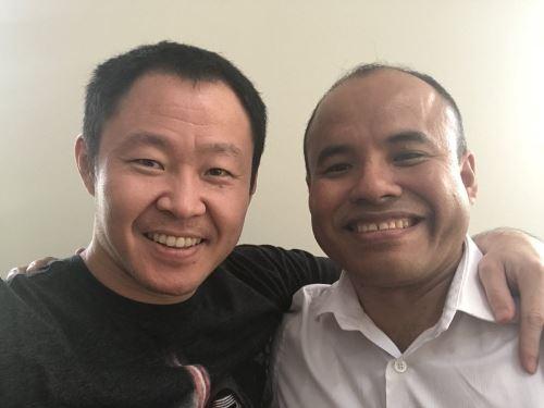 Congresista Kenji Fujirjmori y Federico Pariona de Fuerza Popular.