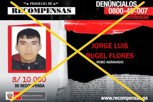 """La Policía Nacional del Perú capturó hoy en Chiclayo y en Lima a dos personas incluidas en el Programa de Recompensas """"Que Ellos Se Cuiden"""" del Ministerio del Interior (Mininter), quienes estaban requisitoriadas por los delitos de tráfico ilícito de drogas y robo agravado."""