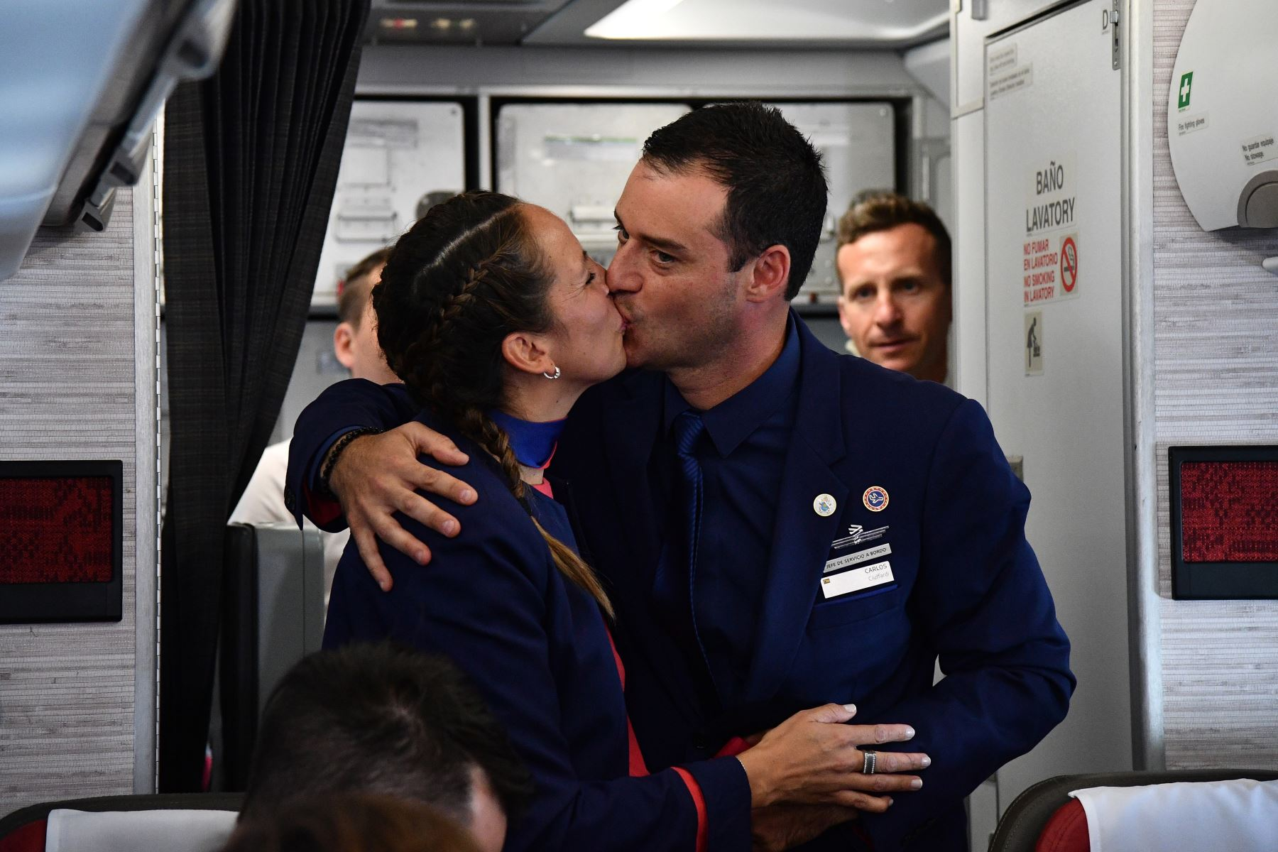 Pope Francis just performed a 'historic' wedding aboard the papal plane