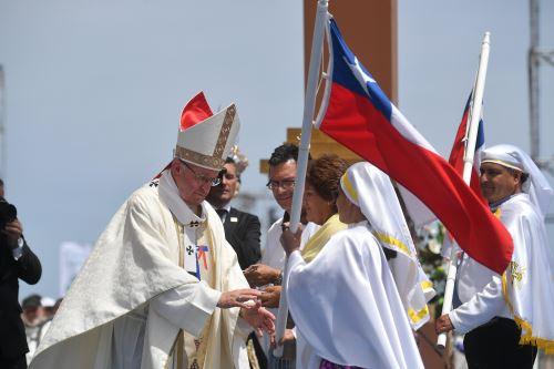 El Papa Francisco en Iquique. Foto: EFE