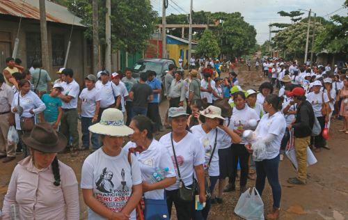 A pocos minutos de la llegada de Papa Francisco en Puerto Maldonado