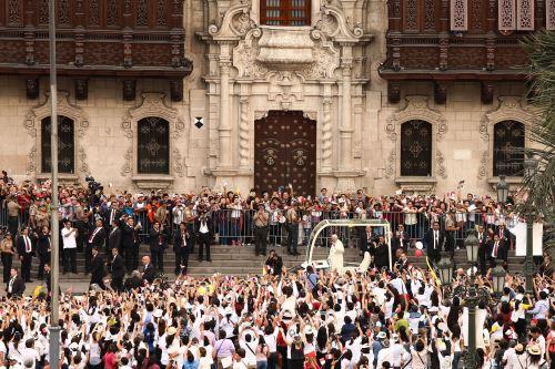 Papa Francisco en Palacio de Gobierno