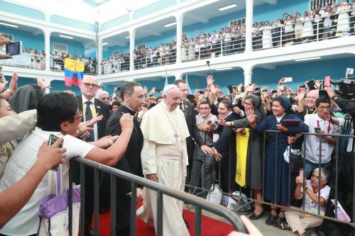 Papa en Seminario San Carlos