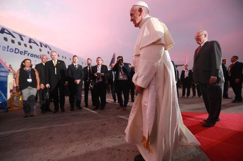 21/01/2018   LIMA PERÚ - ENERO 21. Papa Francisco se despide del Perú. Foto: ANDINA/Carlos Lezama