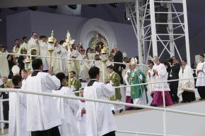 21/01/2018   LIMA PERÚ - ENERO 21. Multitudinaria asistencia a misa del Papa Francisco en Base Las palmas. Foto: ANDINA/Carlos lezama