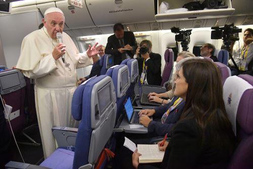 Francisco en el avión. Foto:EFE