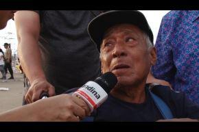 Foto ANDINA: David Saboya López, de 83 años, llegó con mucha ilusión a ver al Papa Francisco