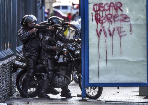 Protestas por la muerte de Oscar Perez. Foto: AFP
