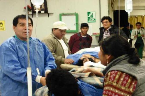 Las víctimas son Ronald Callapiña Huaman (32) y el menor de iniciales C.CH.Cc. (16).