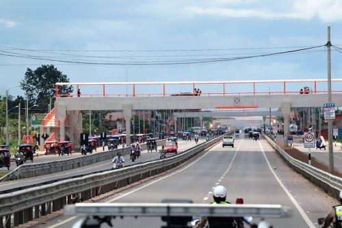 MTC pone en operación mejoras en la carretera Federico Basadre, en Ucayali. ANDINA/Difusión