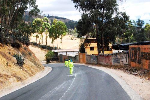 Inversión pública en carreteras. ANDINA/Eduard Lozano