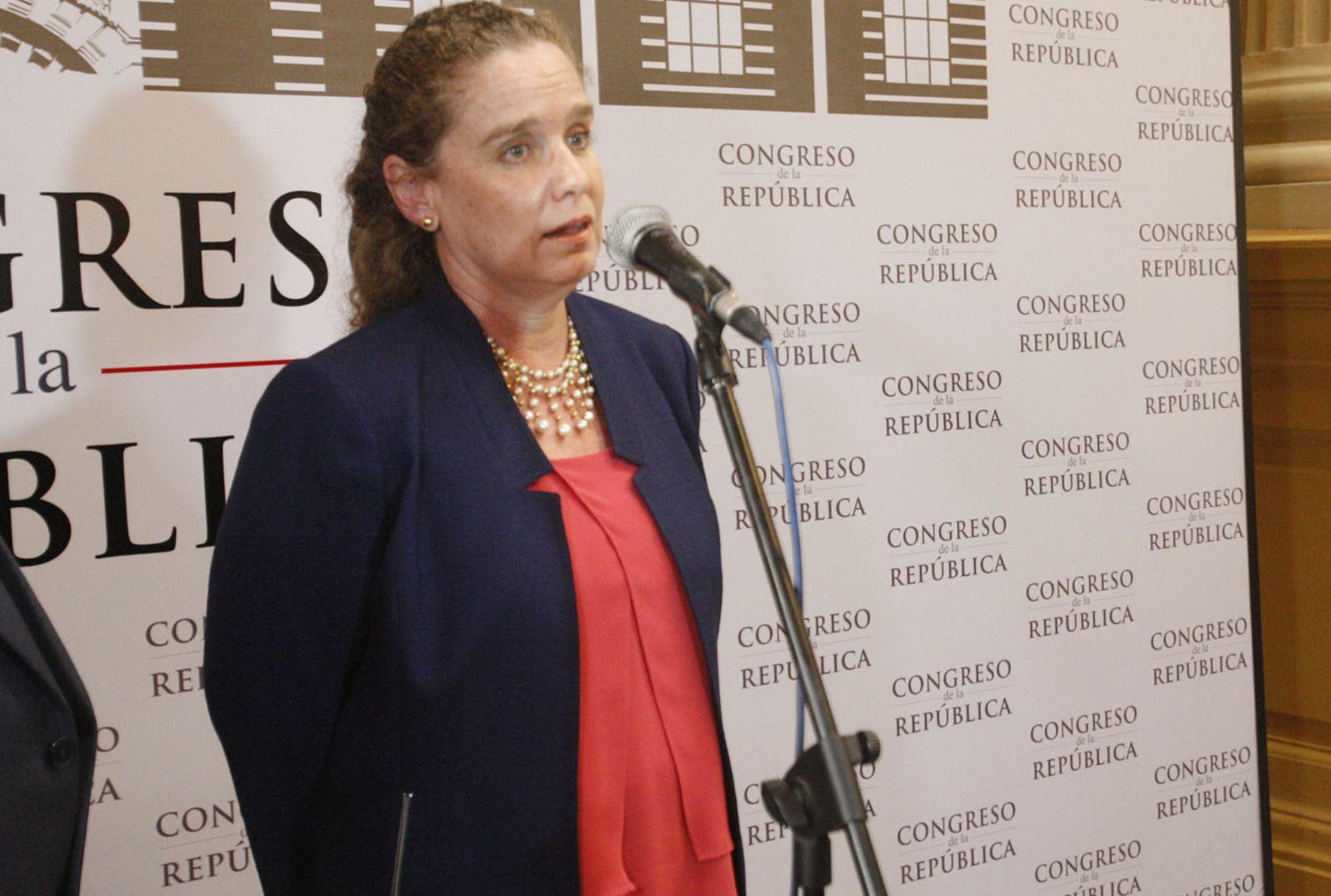 Claudia Cooper. Ministra de Economía y Finanzas, una de las carteras más importantes y claves del Estado. Foto: ANDINA/Eddy Ramos.