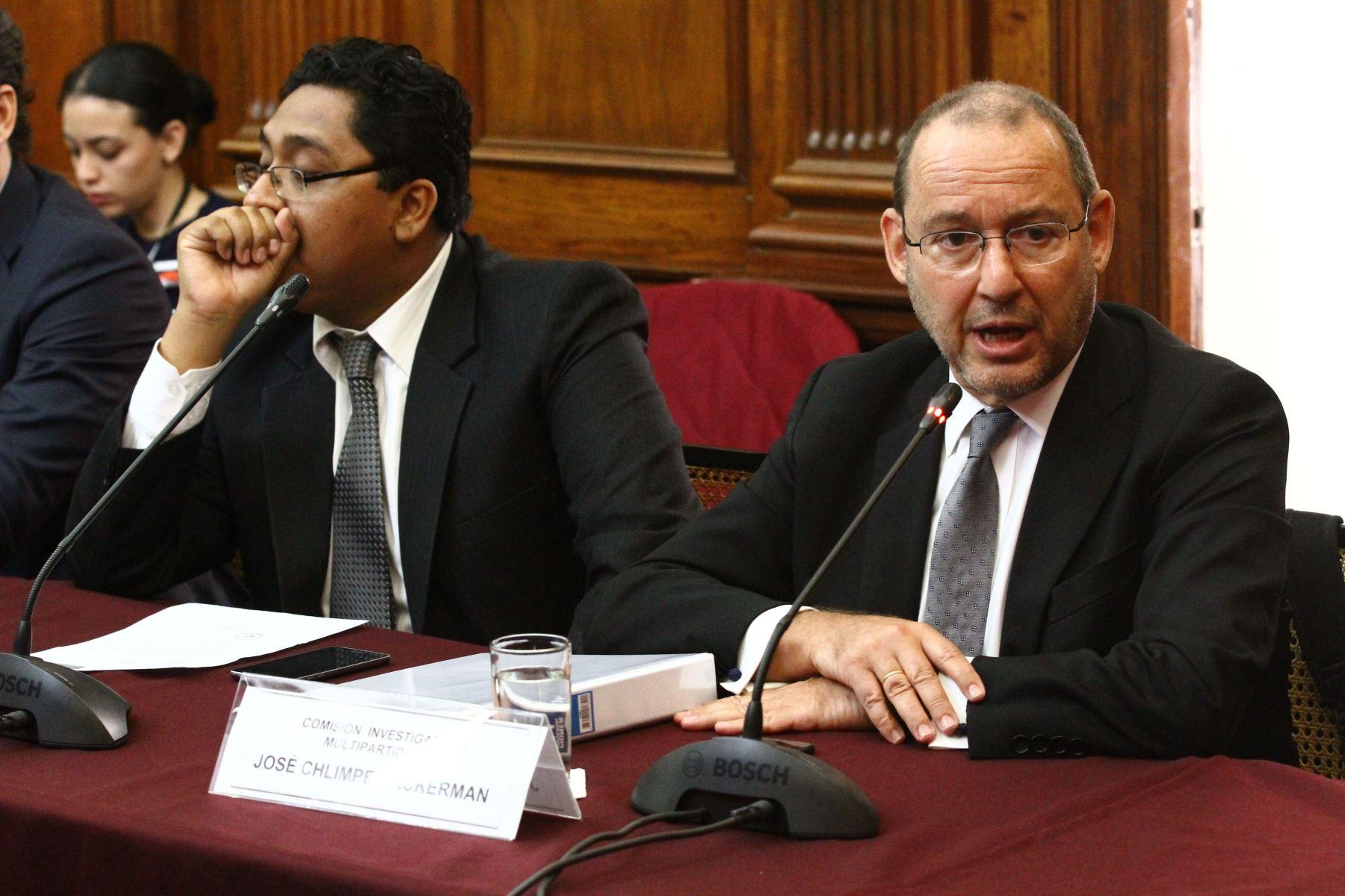 José Chlimper responde ante Comisión Lava Jato por caso Odebrecht