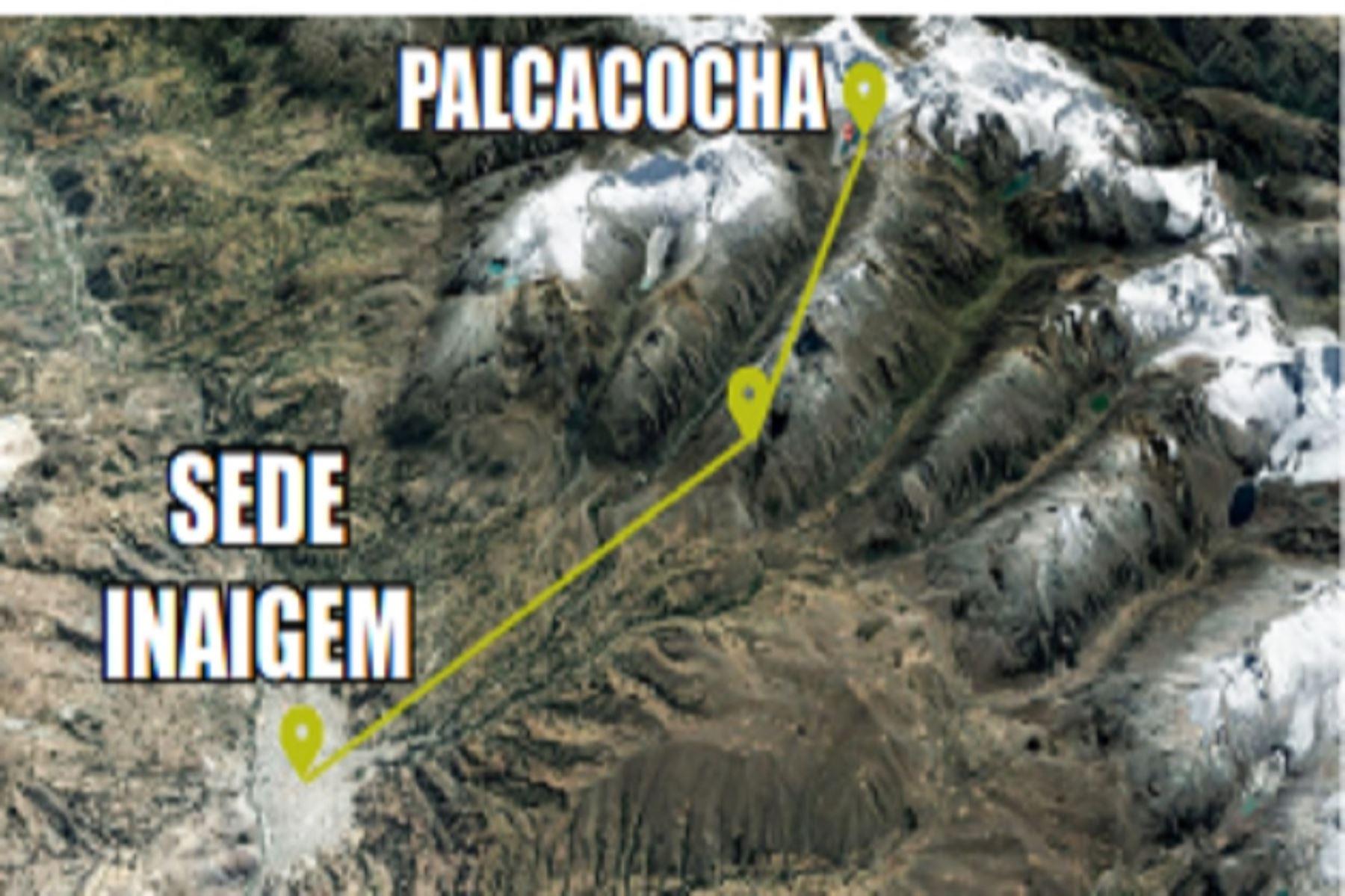 Actualmente el volumen de la laguna Palcacocha llega a 17 millones, 400 mil metros cúbicos y en la década de los 70 alcanzaba el medio millón.