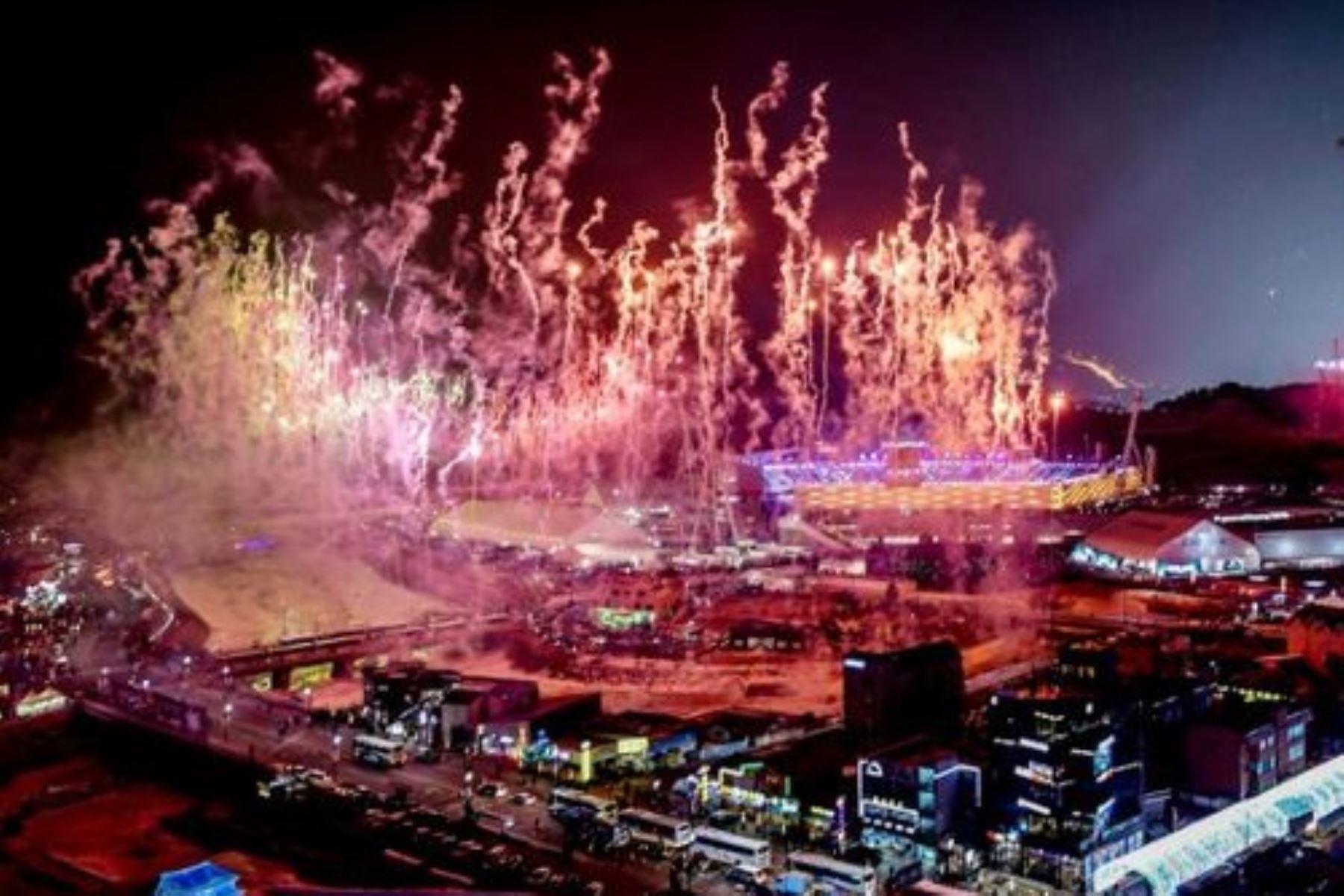 Comienza ceremonia inaugural de Juegos Olímpicos de Invierno en Corea del Sur. Foto: AFP.