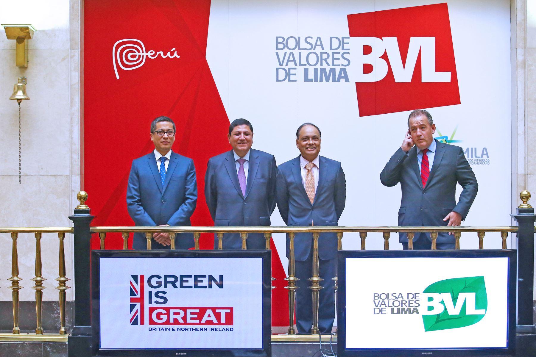 Bolsa de Valores de Lima cierra con fuerte alza