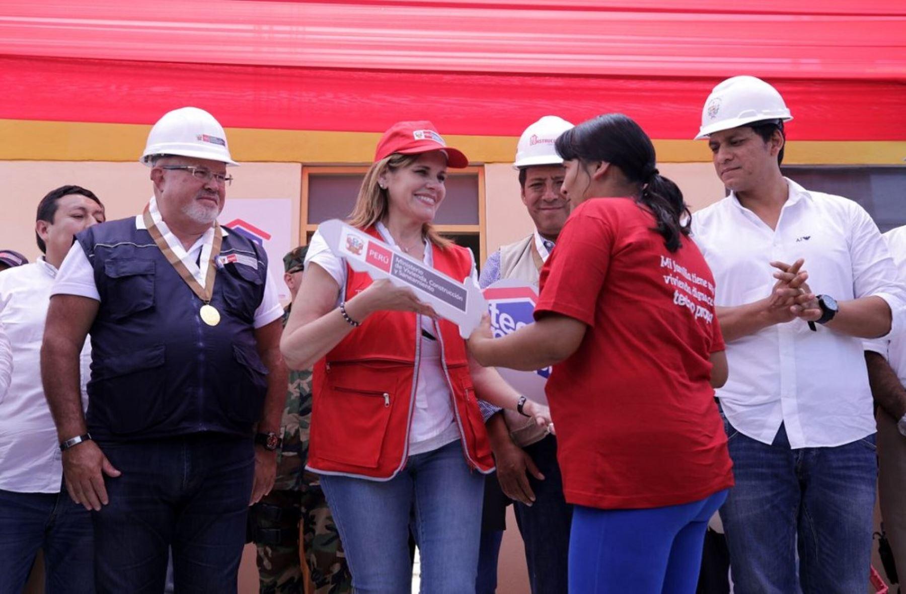 Jefa del Gabinete Ministerial Mercedes Aráoz en visita de trabajo en Trujillo