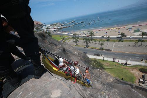 Costa Verde de Lima: ensayan rescate ante posible tsunami