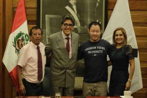 Ministro de Salus, Abel Salinas, se reunió con congresistas Kenji Fujimori y Maritza García, así como el alcalde distrital de Pucusana, Pedro Florián