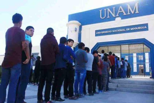 La Universidad Nacional de Moquegua (UNAM) fue preseleccionada por el Programa Nacional de Becas y Crédito Educativo (Pronabec) para el Concurso de Beca 18 en todas sus modalidades, y de esta manera jóvenes en condición de pobreza, pobreza extrema y poblaciones vulnerables podrán acceder a una educación superior en la región Moquegua.