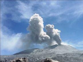 El Instituto Geofísico del Perú (IGPP) alertó la caída de cenizas en el volcán Sabancaya, ubicado en la región Arequipa, condición que se mantendría durante todo el día. ANDINA/Difusión
