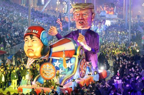Desfile del Carnaval de Niza representando al presidente Donald Trump