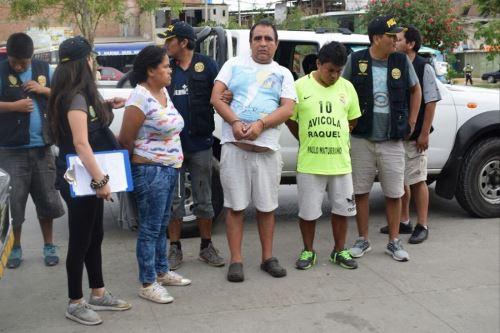 Detenidos en VES tres presuntos microcomercializadores de droga. Foto: Andina/Difusión