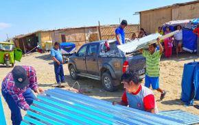 Se adquirió material para la protección de techos, abrigo y alimento.