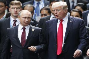 Presidentes de Rusia, Vladimir Putin y de Estados Unidos, Donald Trump. Foto: AFP.