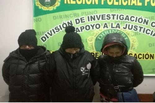 Policía especializada detuvo a cuatro presuntos responsables de trata de personas.