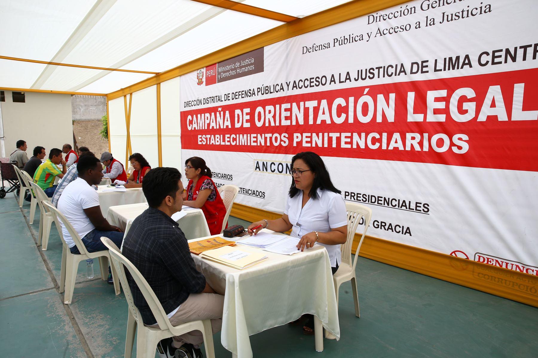 LIMA PERÚ - FEBRERO 22. INPE realiza campaña de asistencia legal para internos extranjeros a nivel nacional.  Foto: ANDINA/Melina Mejía