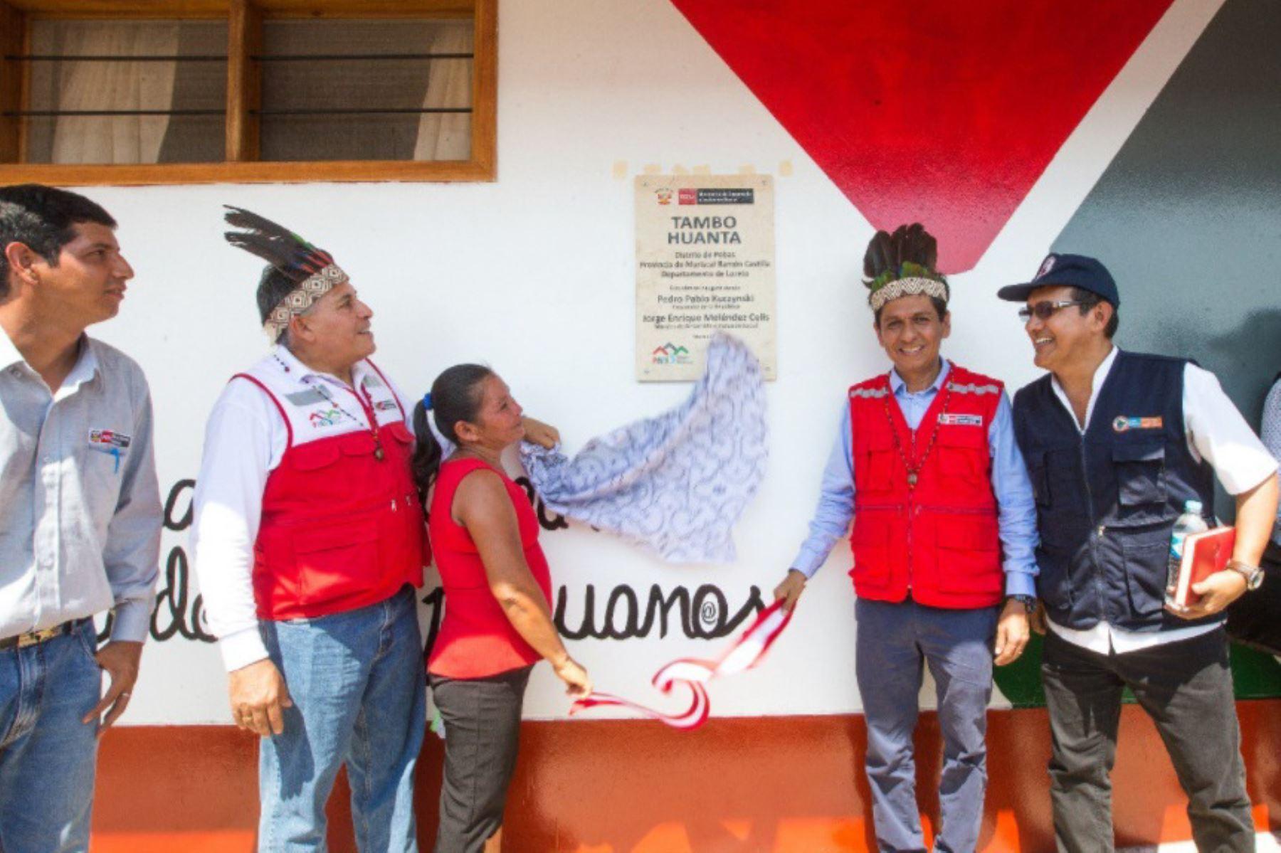 El ministro de Desarrollo e Inclusión Social (Midis),  Jorge Meléndez, inauguró el Tambo Huanta, en la región Loreto, que permitirá acercar los servicios del Estado a aproximadamente 2,541 pobladores, procedentes de 19 centros poblados del distrito de Pebas, provincia de Mariscal Castilla, región Loreto.